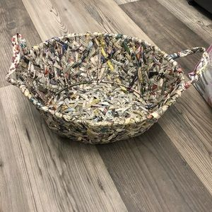 Newspaper Woven Oval Shaped Basket